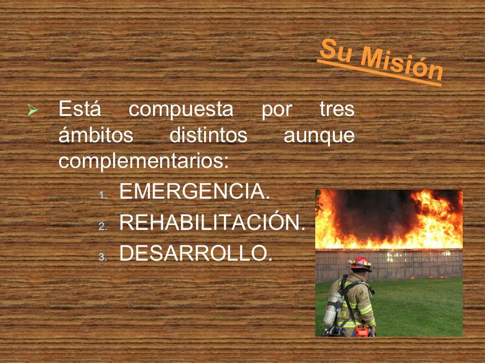 Su Misión Está compuesta por tres ámbitos distintos aunque complementarios: 1.