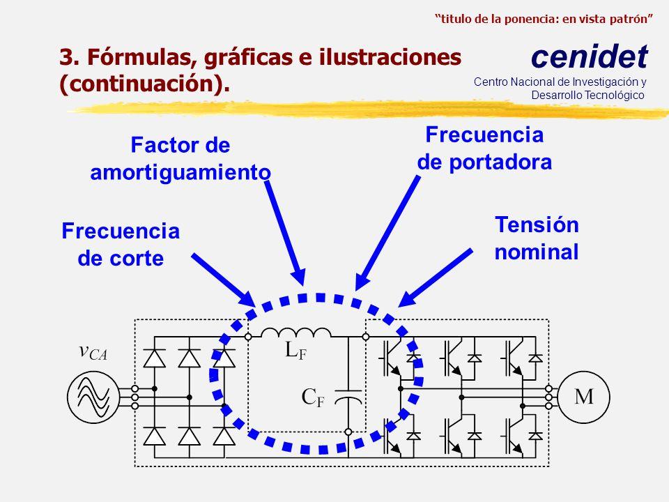 titulo de la ponencia: en vista patrón cenidet Centro Nacional de Investigación y Desarrollo Tecnológico 3. Fórmulas, gráficas e ilustraciones (contin