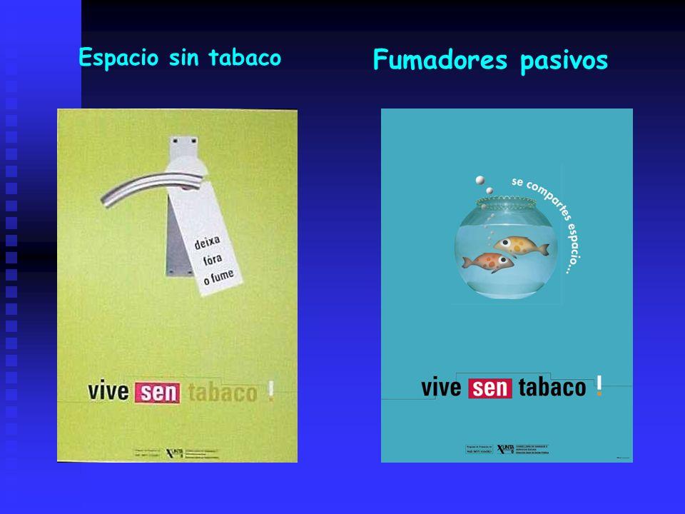 Espacio sin tabaco Fumadores pasivos