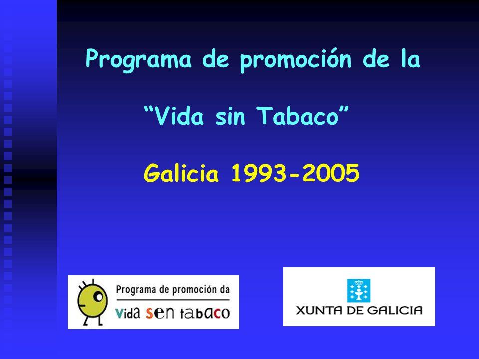 Programa de promoción de la Vida sin Tabaco Galicia 1993-2005