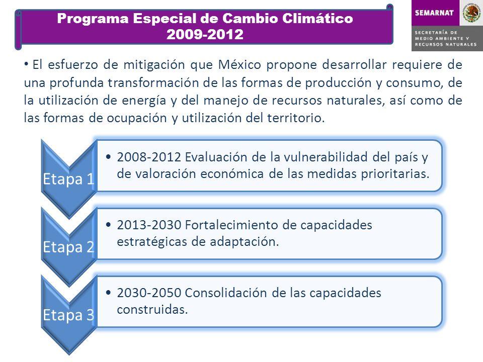El esfuerzo de mitigación que México propone desarrollar requiere de una profunda transformación de las formas de producción y consumo, de la utilizac