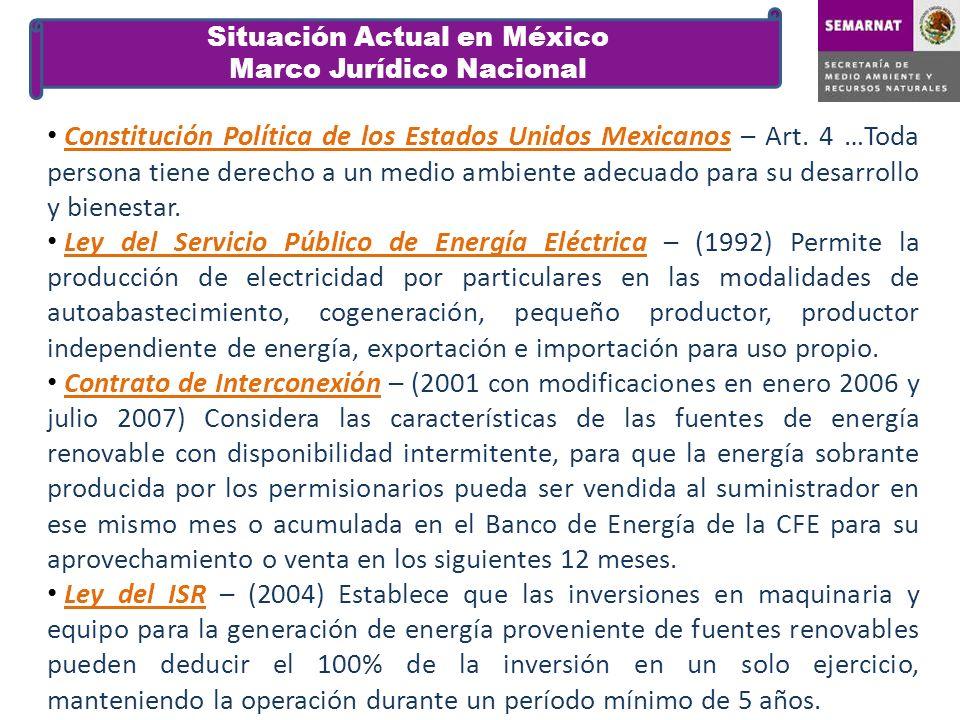 Constitución Política de los Estados Unidos Mexicanos – Art. 4 …Toda persona tiene derecho a un medio ambiente adecuado para su desarrollo y bienestar