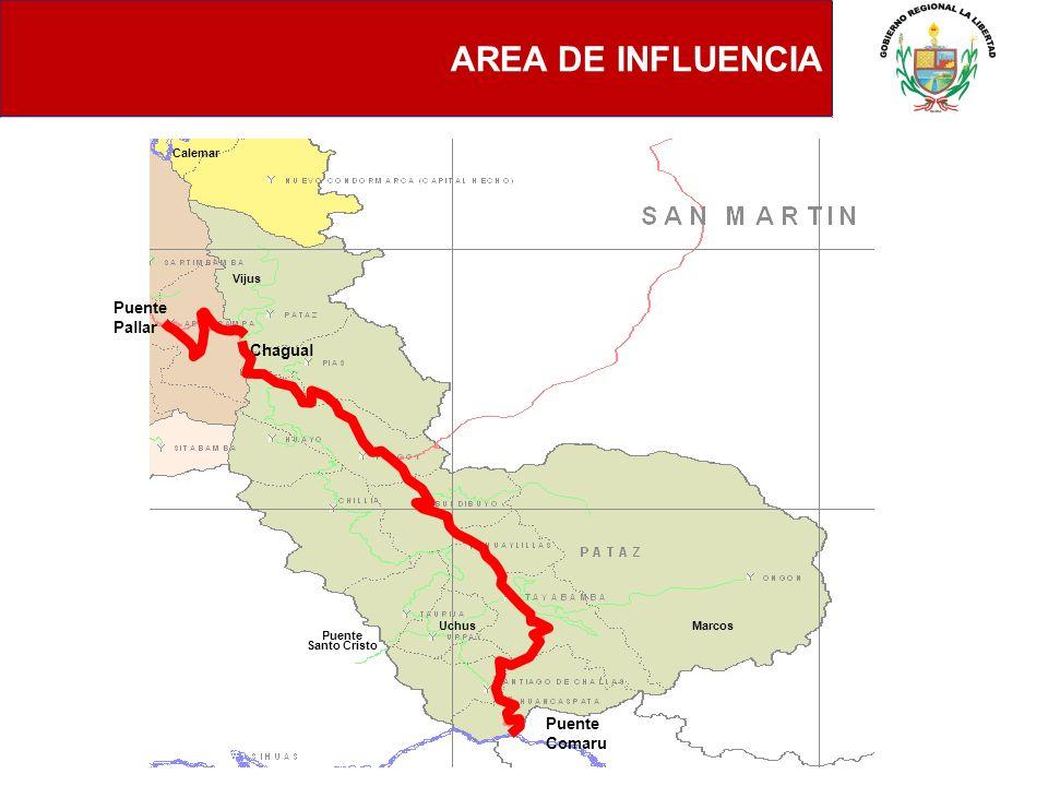 AREA DE INFLUENCIA Chagual Puente Santo Cristo Calemar Vijus MarcosUchus Puente Comaru Puente Pallar