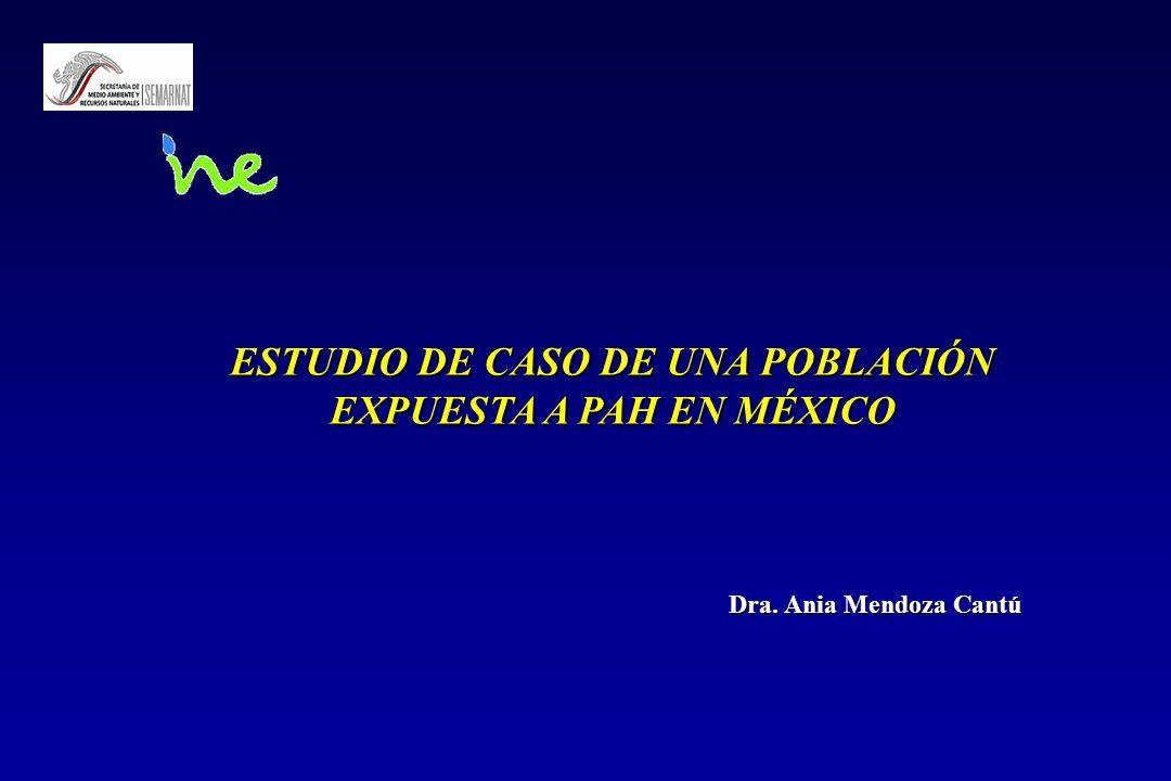 ESTUDIO DE CASO DE UNA POBLACIÓN EXPUESTA A PAH EN MÉXICO Dra. Ania Mendoza Cantú