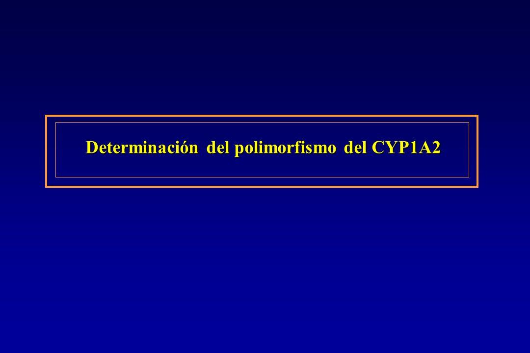 Determinación del polimorfismo del CYP1A2