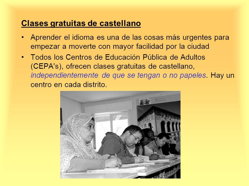 Clases gratuitas de castellano Aprender el idioma es una de las cosas más urgentes para empezar a moverte con mayor facilidad por la ciudad Todos los