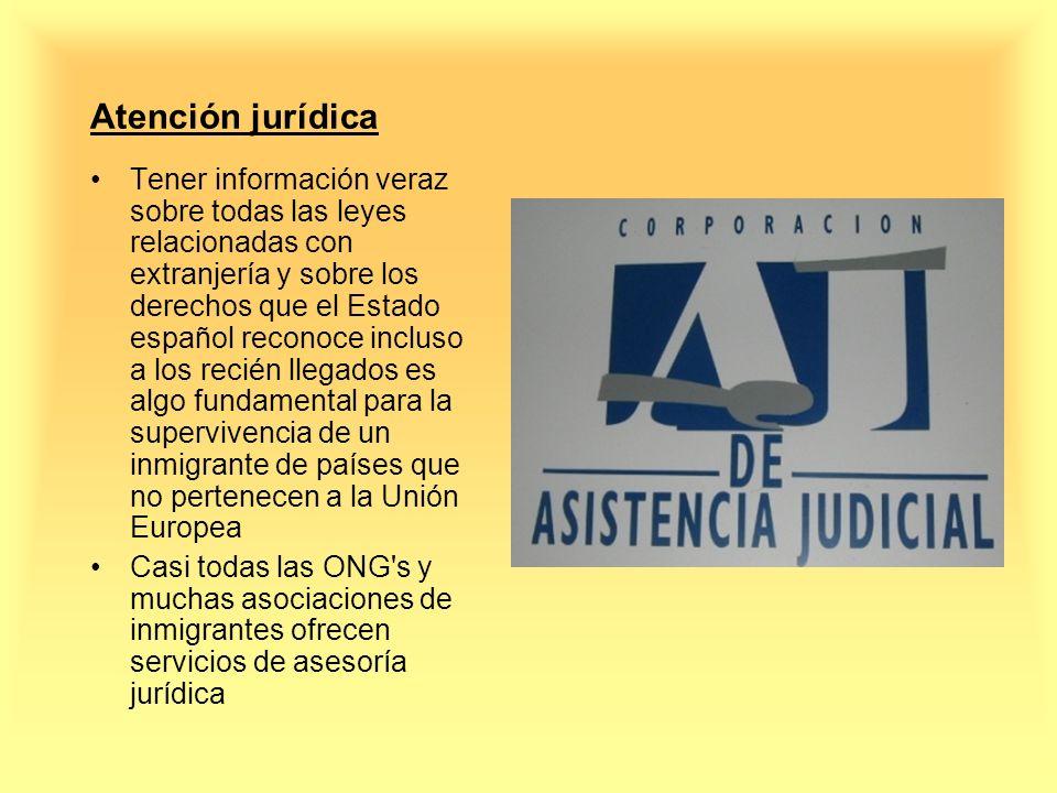 Atención jurídica Tener información veraz sobre todas las leyes relacionadas con extranjería y sobre los derechos que el Estado español reconoce inclu