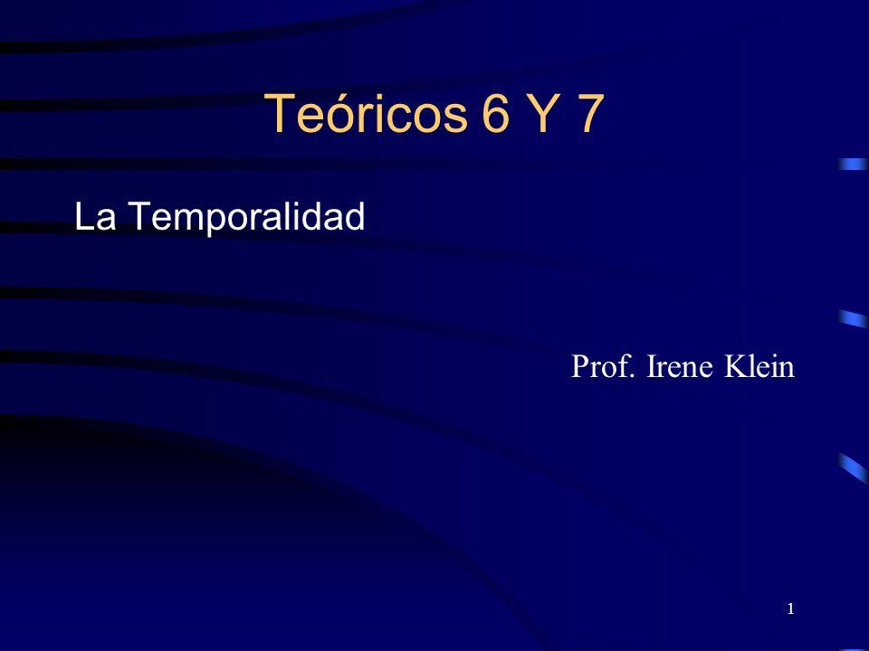 1 Teóricos 6 Y 7 La Temporalidad Prof. Irene Klein