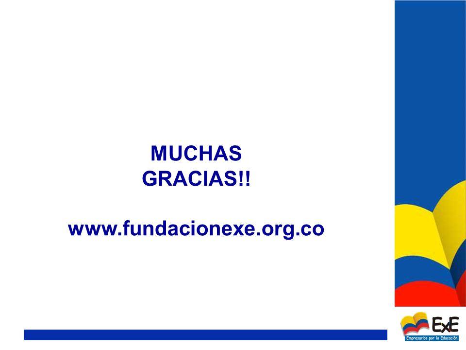 MUCHAS GRACIAS!! www.fundacionexe.org.co