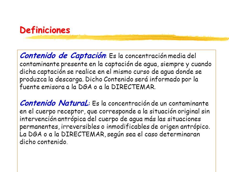 continuación Fuentes Existentes : Son aquellas fuentes emisoras que a la fecha de entrada en vigencia del presente decreto se encuentren vertiendo sus residuos.