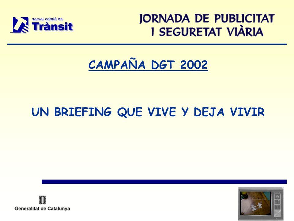 CAMPAÑA DGT 2002 UN BRIEFING QUE VIVE Y DEJA VIVIR