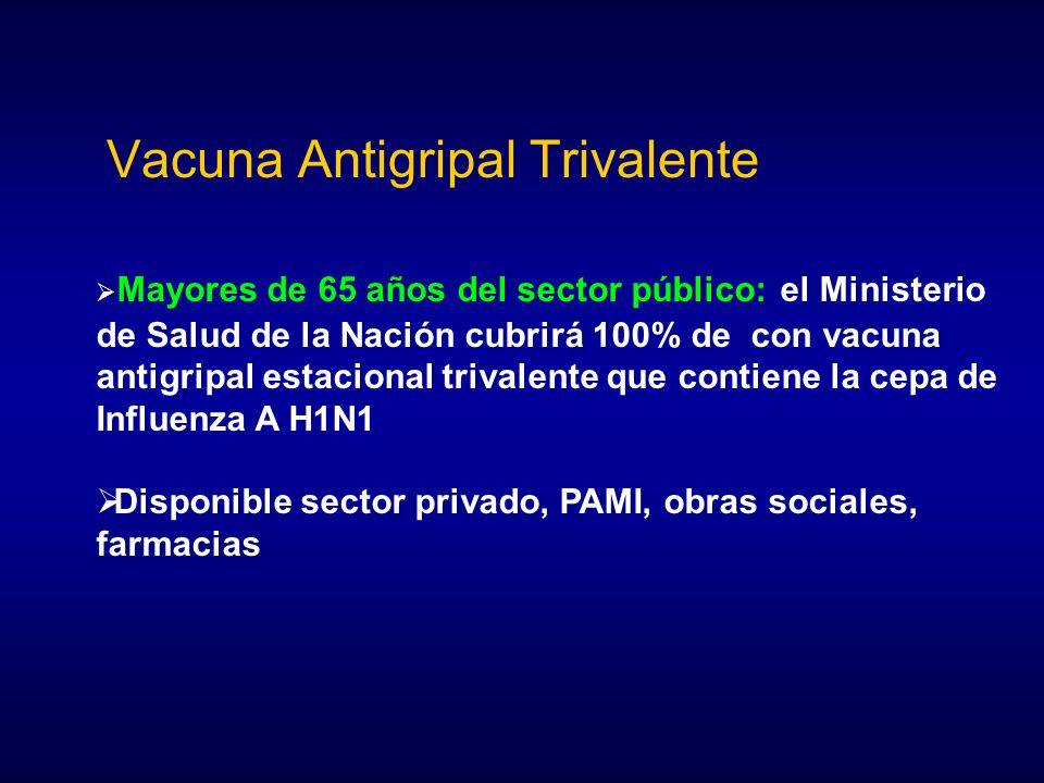 Vacuna Antigripal Trivalente Mayores de 65 años del sector público: el Ministerio de Salud de la Nación cubrirá 100% de con vacuna antigripal estacion
