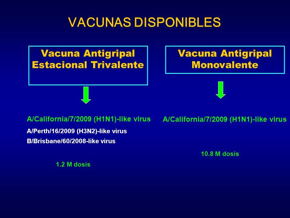 Vacuna Antigripal Estacional Trivalente A/California/7/2009 (H1N1)-like virus A/Perth/16/2009 (H3N2)-like virus B/Brisbane/60/2008-like virus 1.2 M do