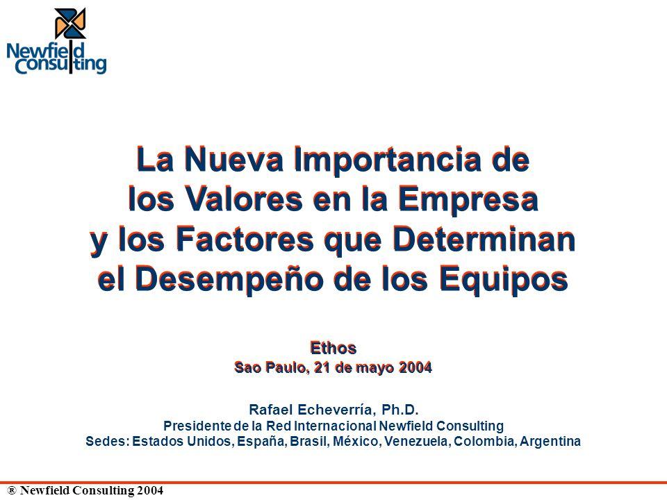 ® Newfield Consulting 2004 Rafael Echeverría, Ph.D. Presidente de la Red Internacional Newfield Consulting Sedes: Estados Unidos, España, Brasil, Méxi