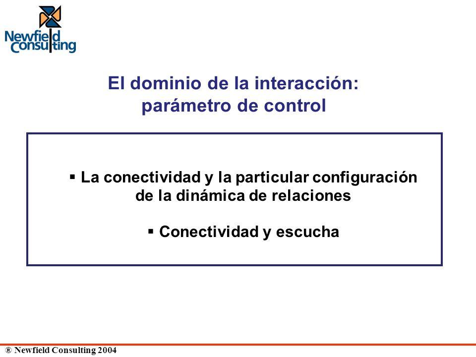 ® Newfield Consulting 2004 El dominio de la interacción: parámetro de control La conectividad y la particular configuración de la dinámica de relacion