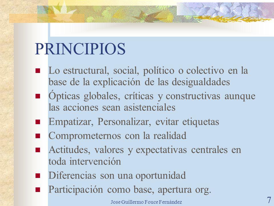 Jose Guillermo Fouce Fernández 6 ¿POR QUÉ CREAR UNA ONG? Marco diferente de actuación en el mundo actual de las ONGD: Abogar por la participación Sens