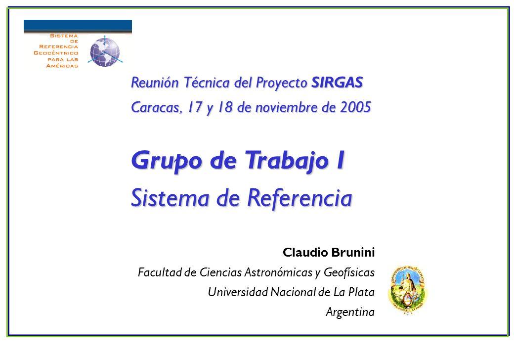 Claudio Brunini Facultad de Ciencias Astronómicas y Geofísicas Universidad Nacional de La Plata Argentina Reunión Técnica del Proyecto SIRGAS Caracas,
