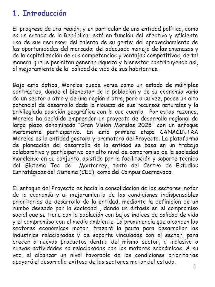 3 1. Introducción El progreso de una región, y en particular de una entidad política, como es un estado de la República; está en función del efectivo
