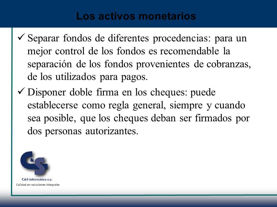 Separar fondos de diferentes procedencias: para un mejor control de los fondos es recomendable la separación de los fondos provenientes de cobranzas,