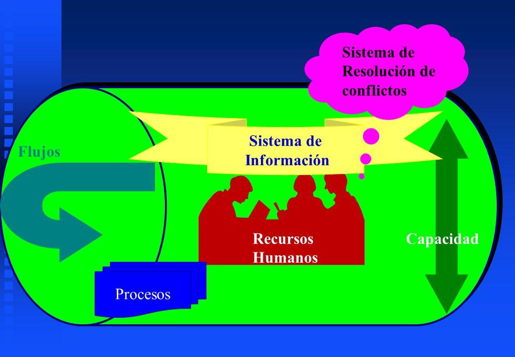 Procesos Sistema de Información Sistema de Resolución de conflictos Flujos Capacidad Recursos Humanos