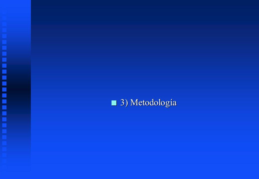 n 3) Metodología