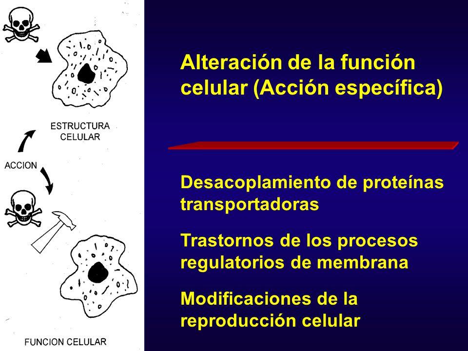 Para el tratamiento: Cuando la inhibición enzimática es altamente específica y gran parte de los efectos tóxicos se derivan de ese tipo de lesión molecular, es posible tratar y revertir esas alteraciones, desapareciendo los efectos clínicos.