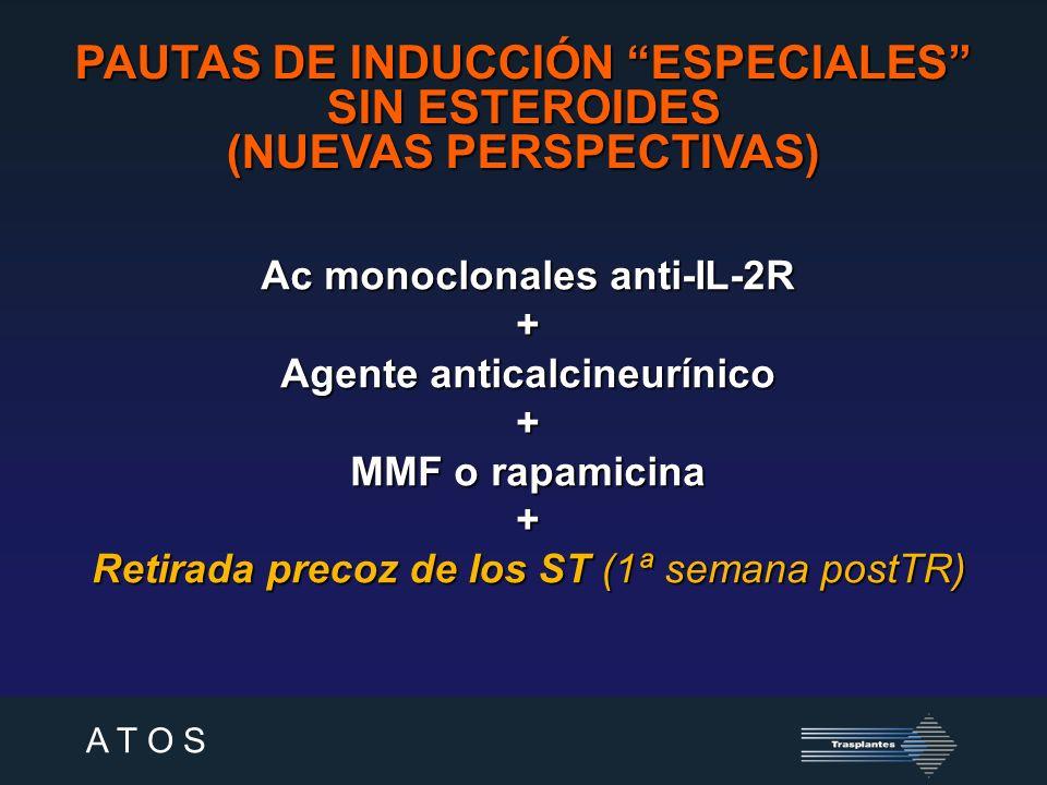 A T O S PAUTAS DE INDUCCIÓN ESPECIALES SIN ANTICALCINEURÍNICOS (I) Grinyó et al.