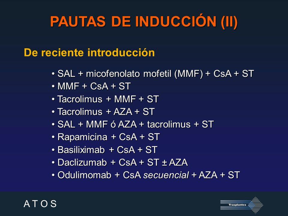 A T O S Especiales [CsA monoterapia].SAL + MMF + CsA.