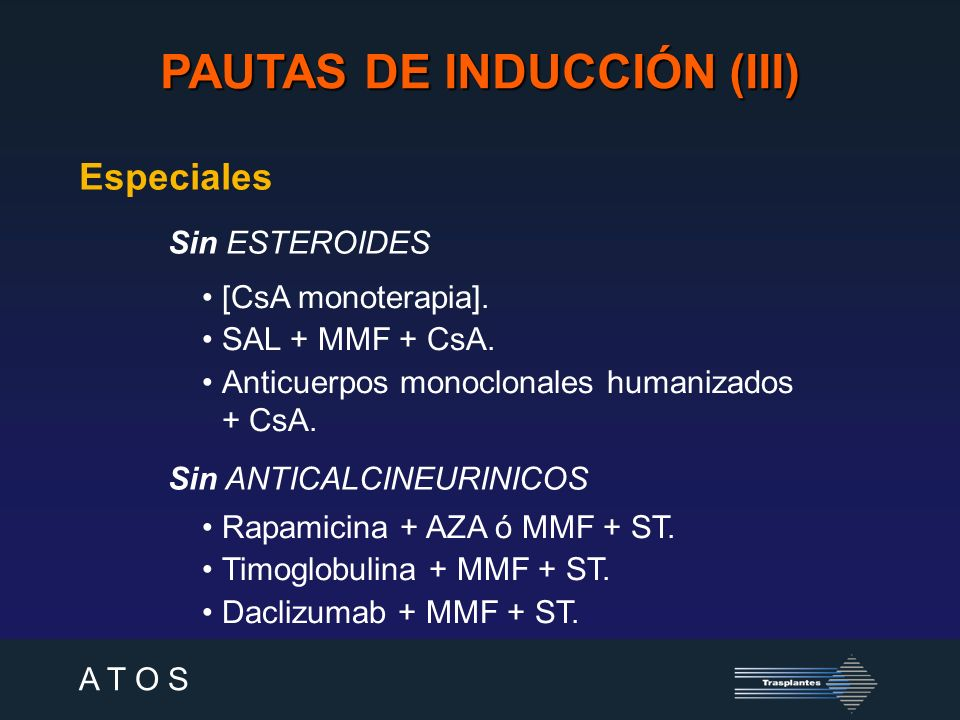 A T O S PAUTAS DE INDUCCIÓN - SAL 100 pacientes1 r TR.