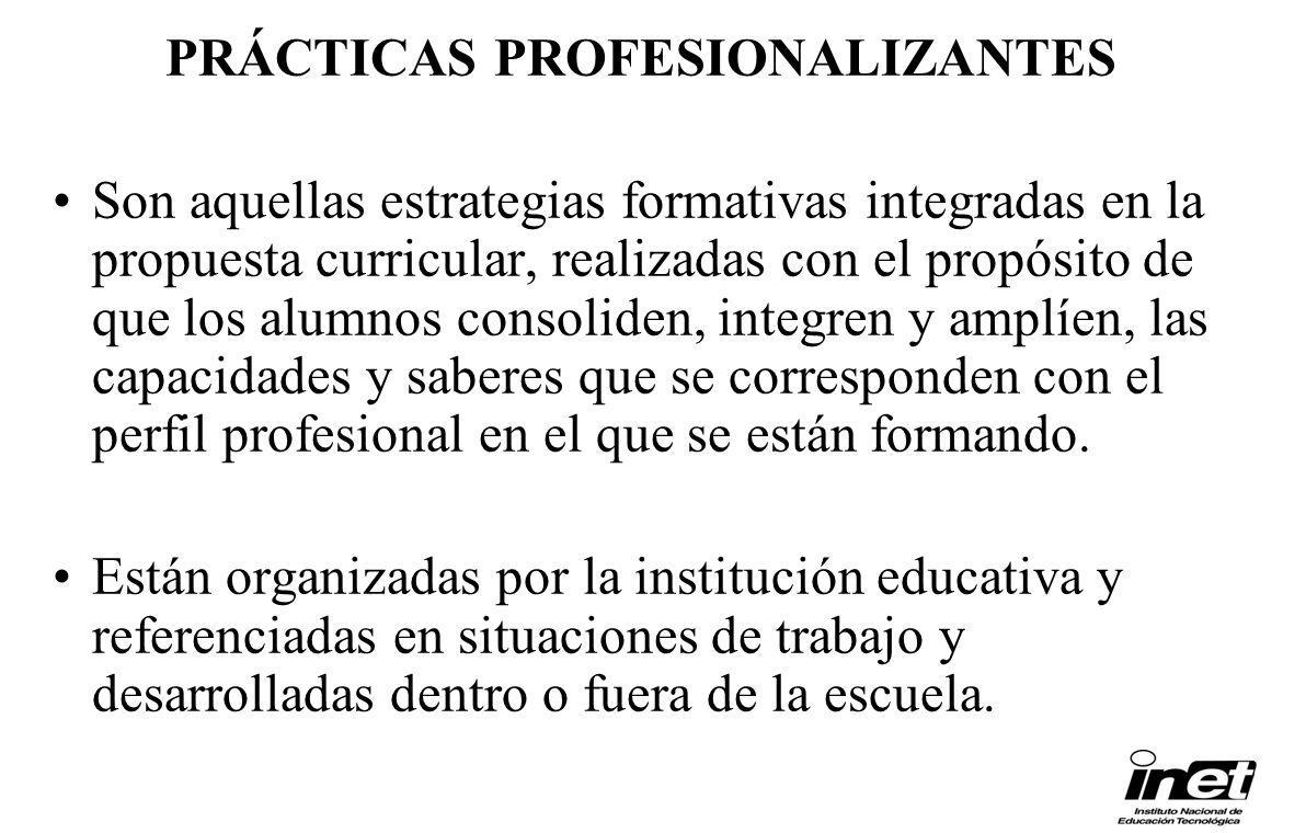 Son aquellas estrategias formativas integradas en la propuesta curricular, realizadas con el propósito de que los alumnos consoliden, integren y amplí