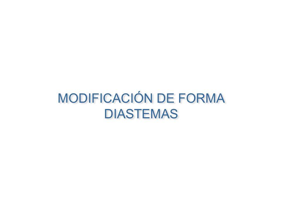 MODIFICACIÓN DE FORMA DIASTEMAS MODIFICACIÓN DE FORMA DIASTEMAS