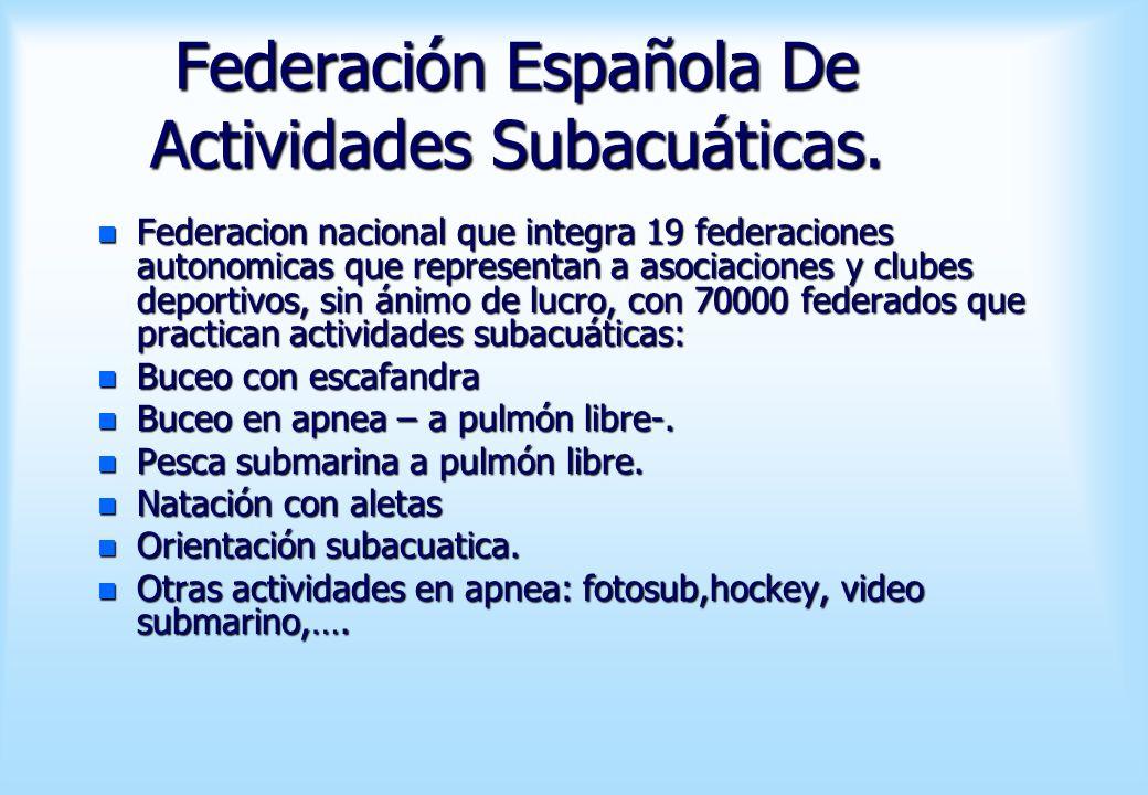 Federación Española De Actividades Subacuáticas.