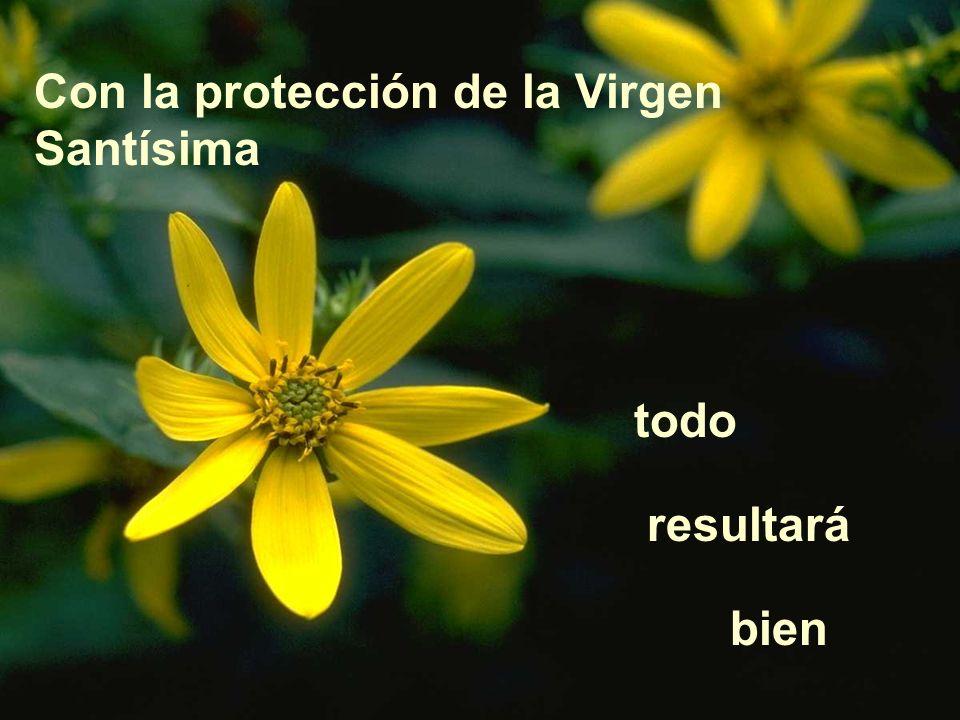 Con la protección de la Virgen Santísima todo resultará bien
