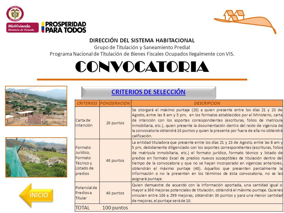 DIRECCIÓN DEL SISTEMA HABITACIONAL Grupo de Titulación y Saneamiento Predial Programa Nacional de Titulación de Bienes Fiscales Ocupados Ilegalmente con VIS.