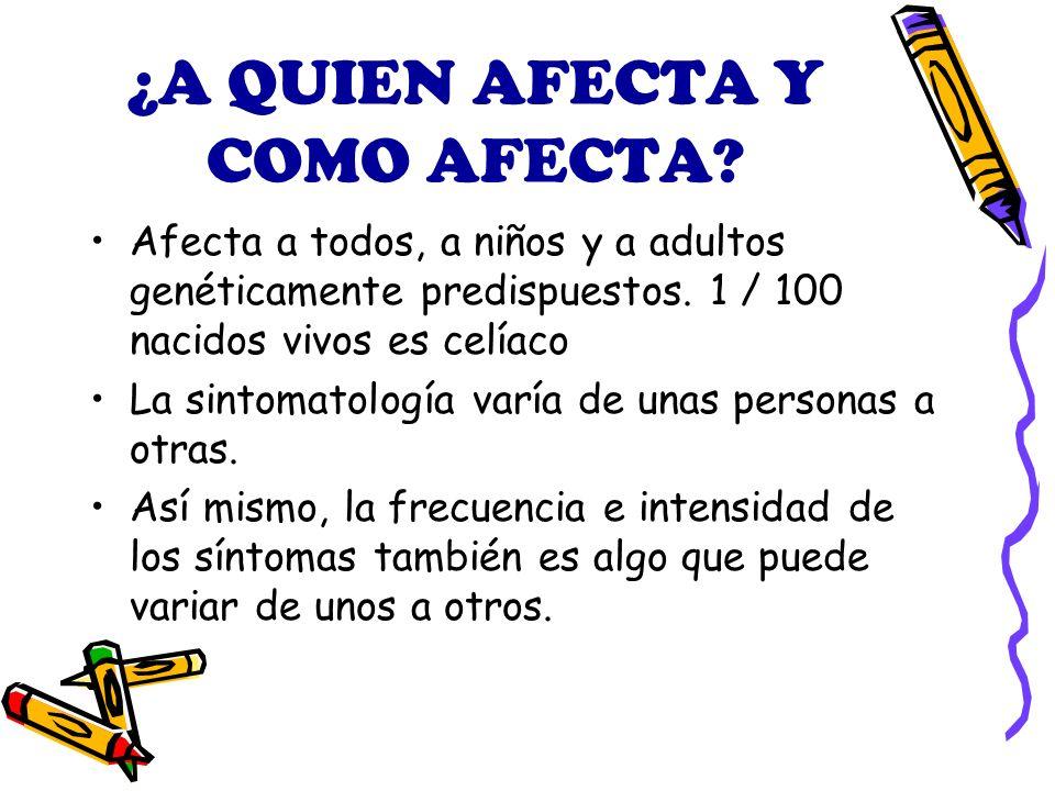 ¿A QUIEN AFECTA Y COMO AFECTA.Afecta a todos, a niños y a adultos genéticamente predispuestos.