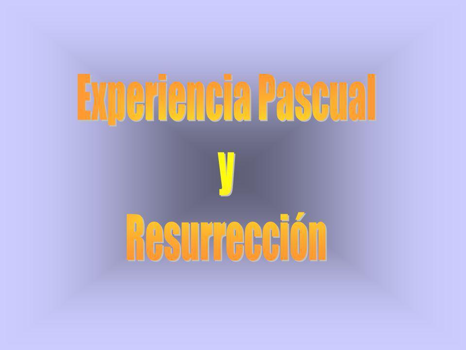 Bajo la expresión experiencia pascual podríamos distinguir: lo que le pasó a Jesús lo que percibieron/experimentaron los discípulos lo que la resurrección de Jesús conlleva para la existencia humana