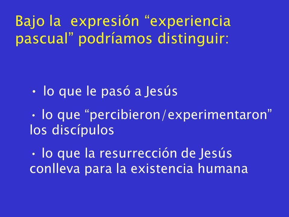 A modo de conclusión (provisional): No era que alguna convicción relativa a Jesús se hubiera plasmado luego en relatos sobre percepciones de él resucitado.
