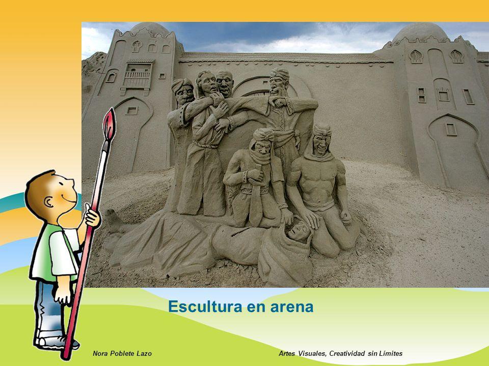 Nora Poblete LazoArtes Visuales, Creatividad sin Límites Escultura en arena