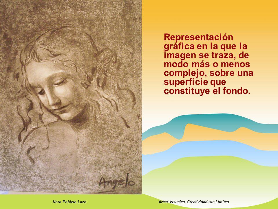Representación gráfica en la que la imagen se traza, de modo más o menos complejo, sobre una superficie que constituye el fondo. Nora Poblete LazoArte