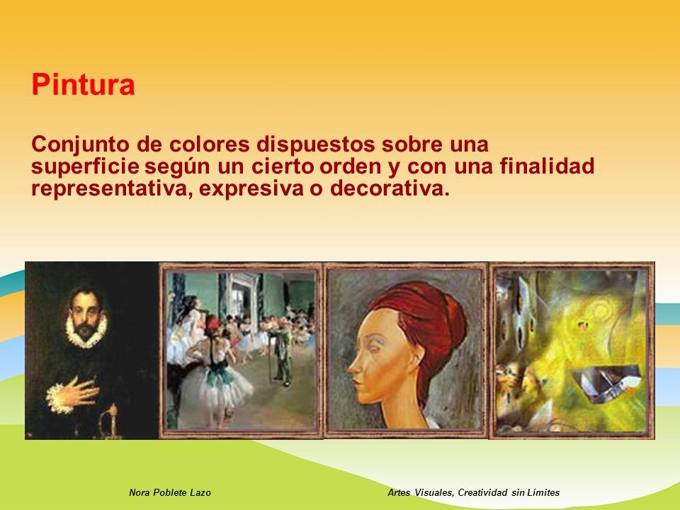 Conjunto de colores dispuestos sobre una superficie según un cierto orden y con una finalidad representativa, expresiva o decorativa. Nora Poblete Laz