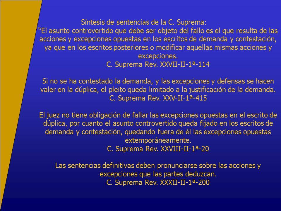 Síntesis de sentencias de la C.
