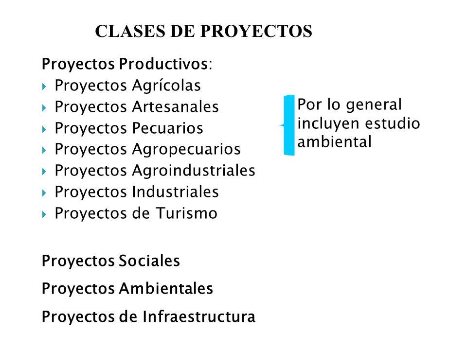 Proyectos Productivos: Proyectos Agrícolas Proyectos Artesanales Proyectos Pecuarios Proyectos Agropecuarios Proyectos Agroindustriales Proyectos Indu