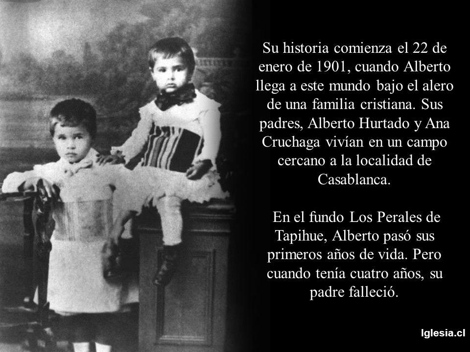 Iglesia.cl Su historia comienza el 22 de enero de 1901, cuando Alberto llega a este mundo bajo el alero de una familia cristiana. Sus padres, Alberto
