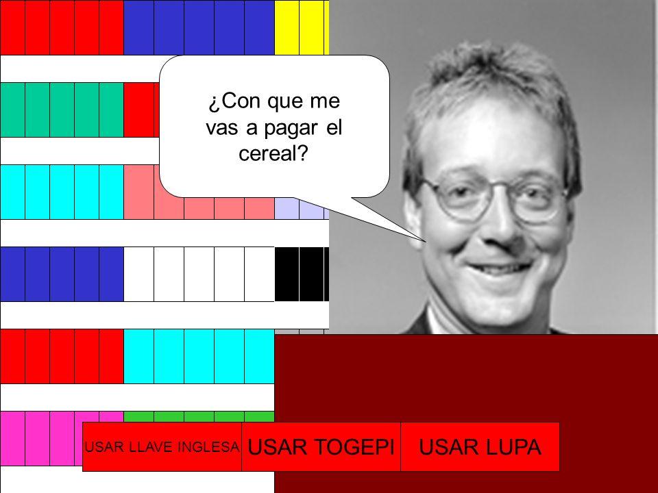 Chico, comprame algo CerealCereal $1000 JugoJugo $300 USAR LLAVE INGLESA USAR TOGEPIUSAR LUPA