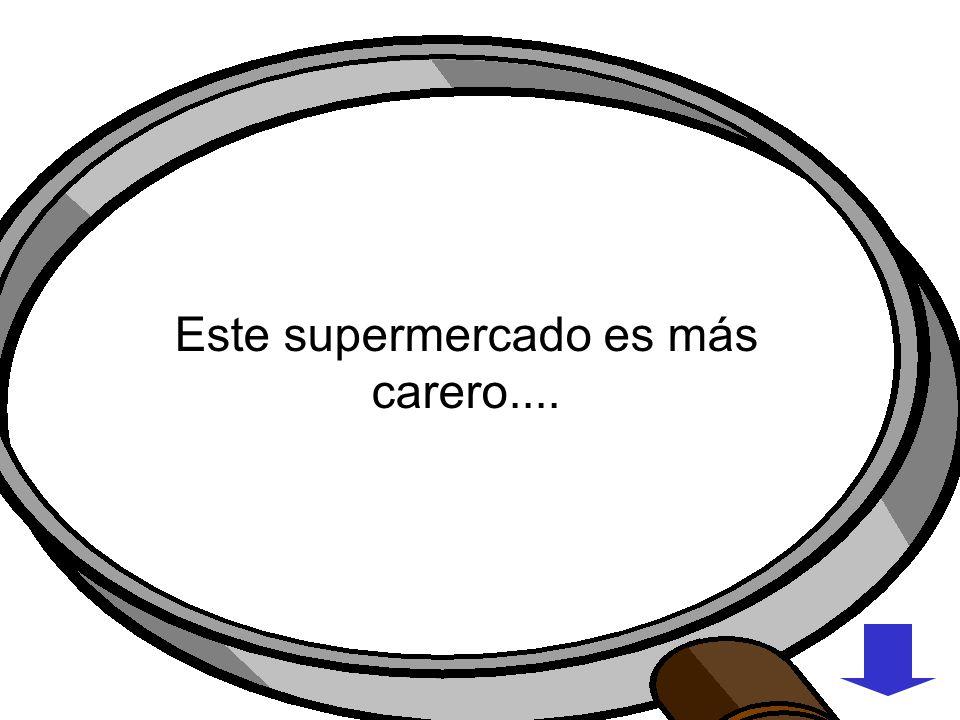 Supermercado (No se fía) USAR LLAVE INGLESA USAR JUGOUSAR LUPA ESTE SUPERMERCADO ES MAS CARERO CERRADO