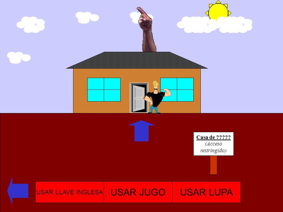 Casa de bascur (usted ya estuvo aquí) USAR LLAVE INGLESA USAR JUGOUSAR LUPA