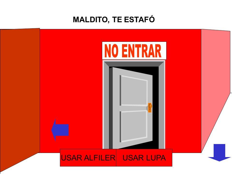 RECIBISTE UN ALFILER USAR ALFILERUSAR LUPA
