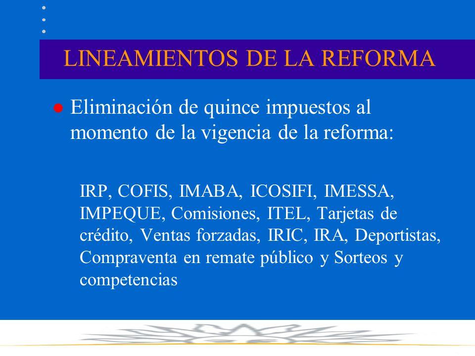 LA REFORMA TRIBUTARIA Ministerio de Economía y Finanzas 9 de noviembre de 2006