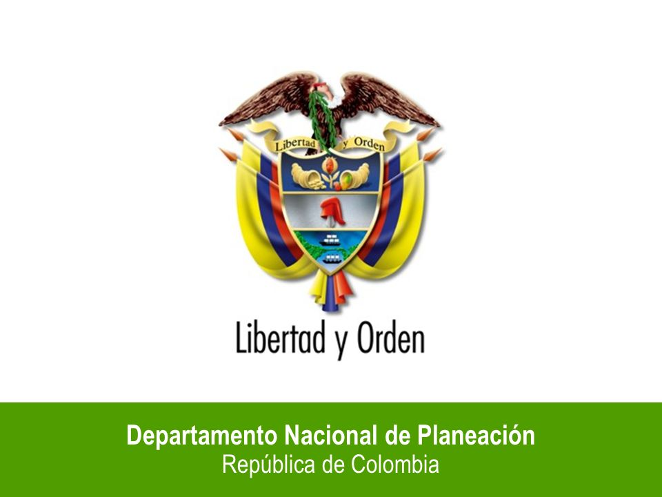 Departamento Nacional de Planeación República de Colombia Fuente: Confis De acuerdo con las metas del gobierno, el déficit del Sector Público Consolidado no superará el 2,3% del PIB en 2004.