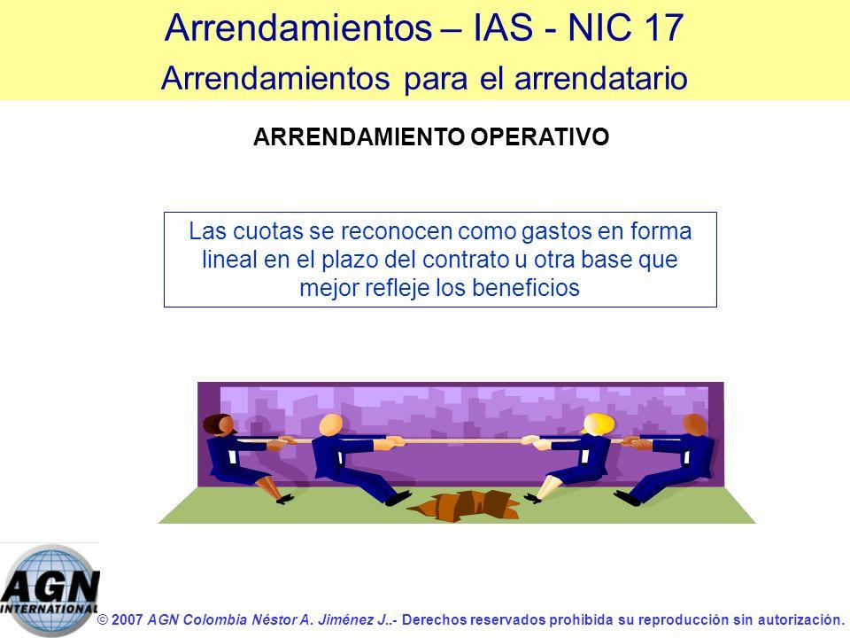 © 2007 AGN Colombia Néstor A. Jiménez J..- Derechos reservados prohibida su reproducción sin autorización. Las cuotas se reconocen como gastos en form